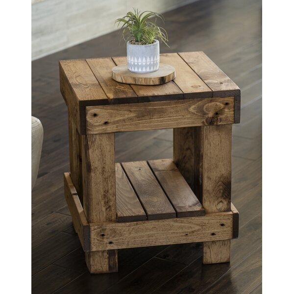 Coughlin Solid Wood End Table With Storage By Foundry Select