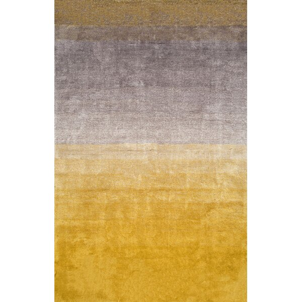 Kral Hand-Tufted Yellow Area Rug by Mercury Row