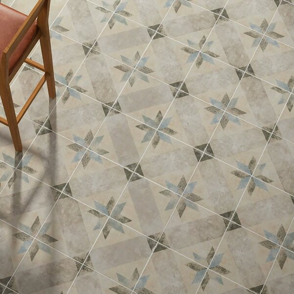 Herculanea 9.75 x 9.75 Porcelain Field Tile in Blu