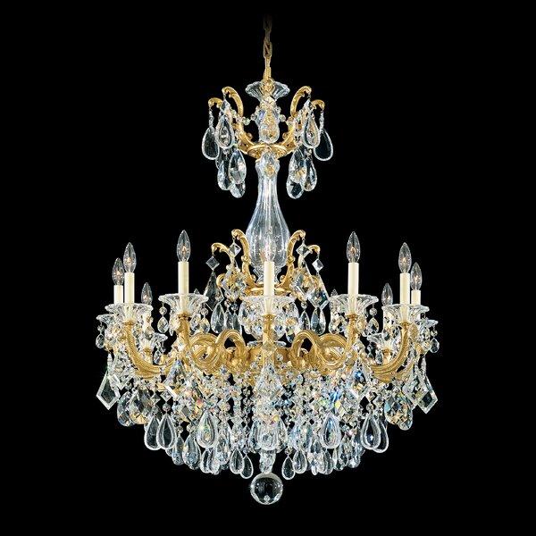 La Scala 12 - Light Candle Style Empire Chandelier by Schonbek Schonbek