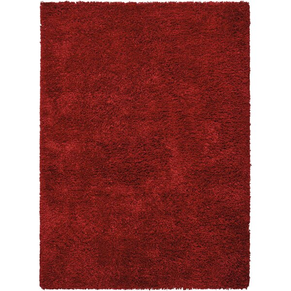 Alvordton Hand-Tufted Red Area Rug by Darby Home Co