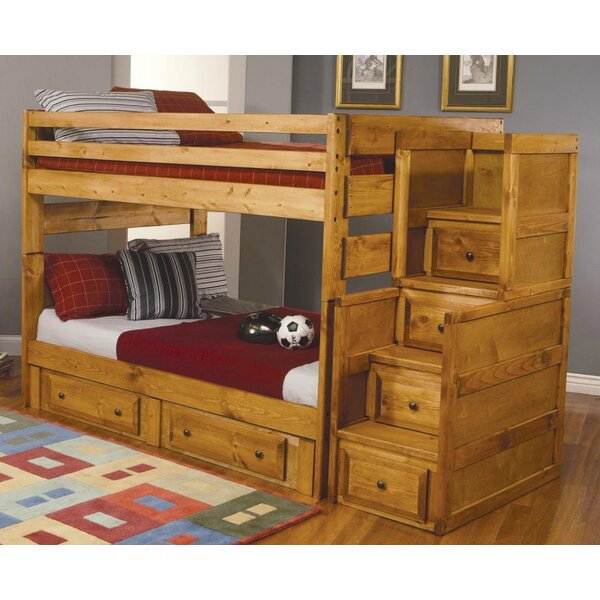 Waite Full Over Full Bunk Bed with Drawers by Harriet Bee