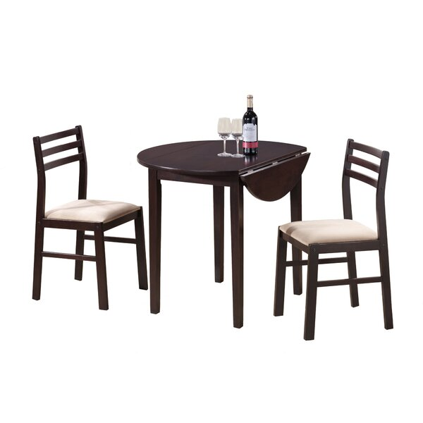 Glenda 3 Piece Drop Leaf Dining Set by Winston Porter