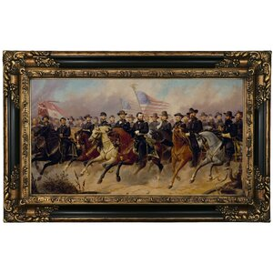 'Grant and His Generals 1865' Framed Print on Canvas by Historic Art Gallery