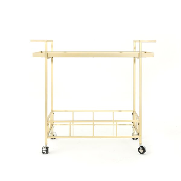 Efird Outdoor Modern Bar Serving Cart by Orren Ellis