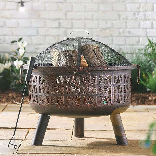 Check Price Geo Steel Wood Burning Fire Pit