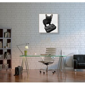 'Classy Frenchie Noir' Graphic Art Print on Canvas by Oliver Gal