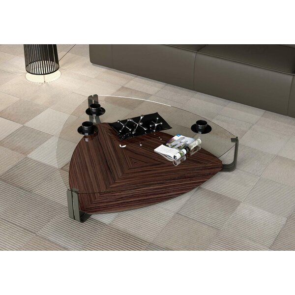 Crayford Coffee Table with Tray Top by Modloft Black