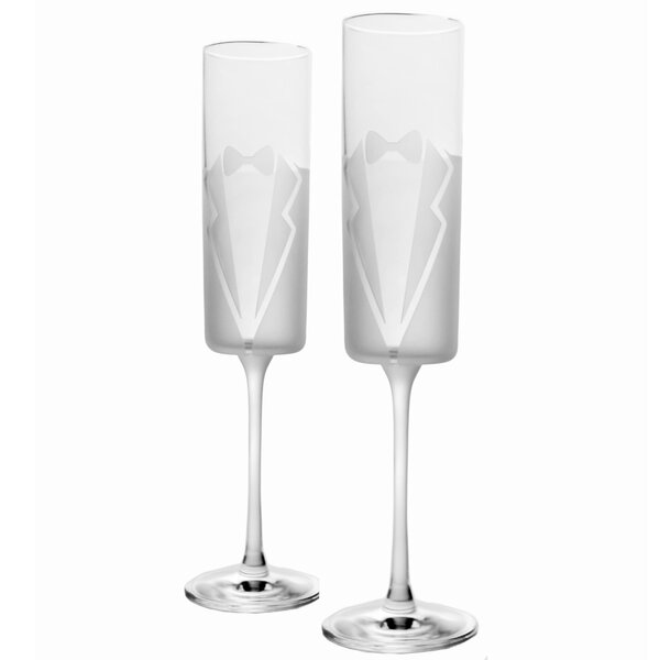 Wedding Cheers 5.8 Oz. Champagne Flute (Set of 2) by Rolf Glass