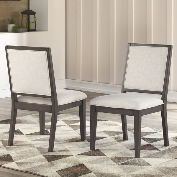 Noyes Upholstered Side chair in Beige (Set of 2) by Wrought Studio Wrought Studio