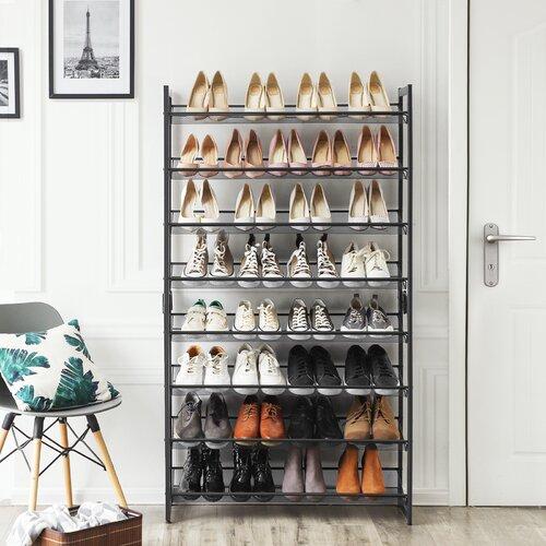 Stapelbares Schuhregal für 32 Paar Schuhe Rebrilliant | Flur & Diele > Schuhschränke und Kommoden | Rebrilliant