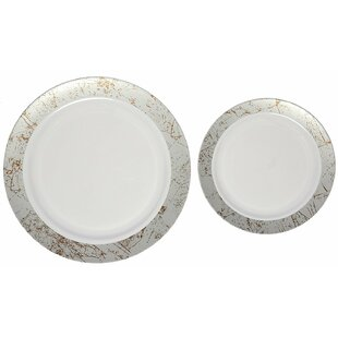 Marble Premium Heavyweight Plastic Disposable Plate Set  sc 1 st  Wayfair & Disposable Plates | Wayfair