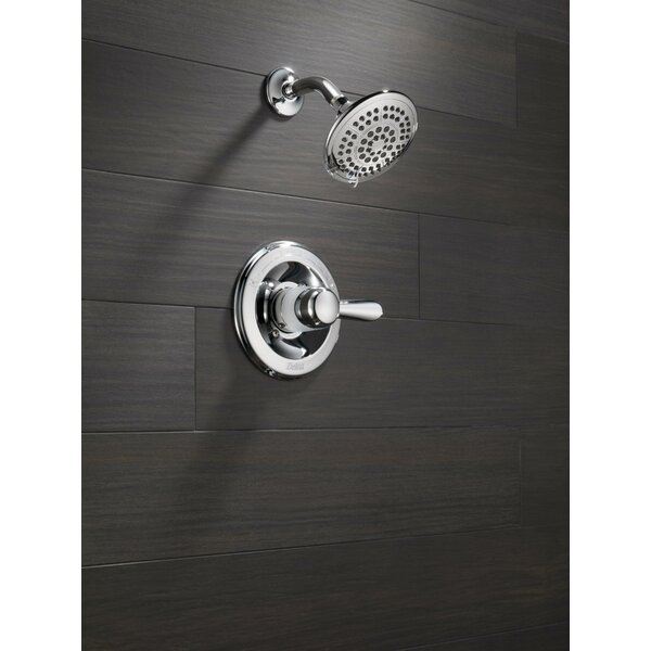 Lahara Thermostatic Shower Faucet Trim with Lever Handles and H2okinetic Technology by Delta