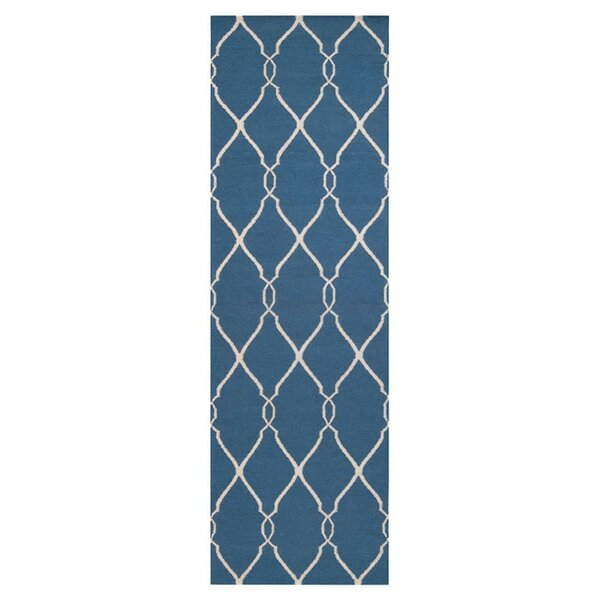 Findley Hand-Woven Blue/Ivory Area Rug by Darby Home Co