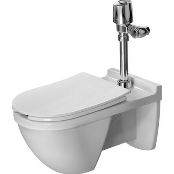 Starck 3 Wall Mounted Verio Outlet 1.28 GPF Elongated One-Piece Toilet by Duravit