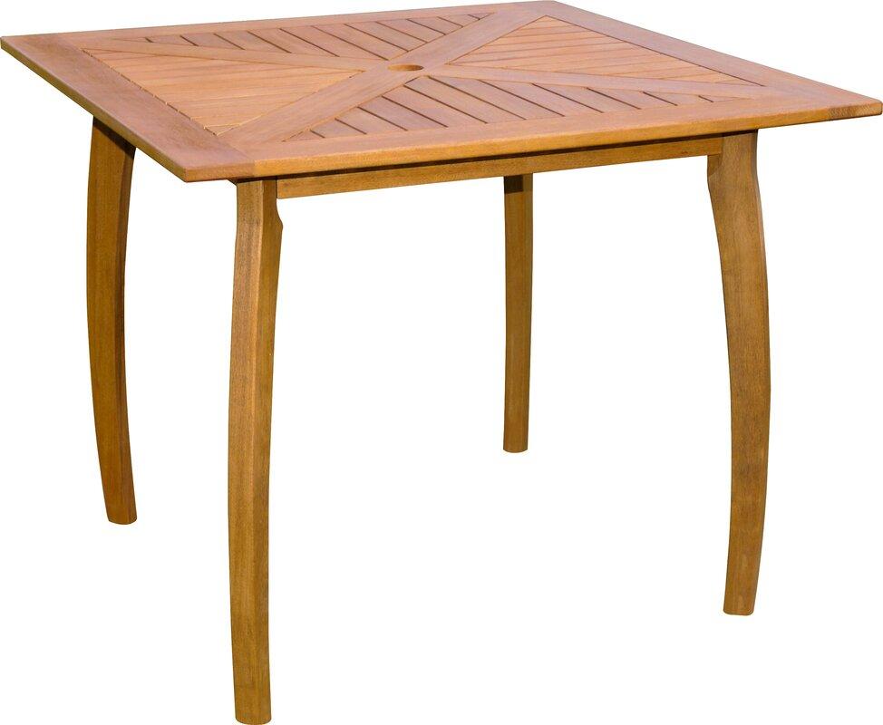 Breakwater Bay Sabbattus Wood Patio Bistro Table & Reviews