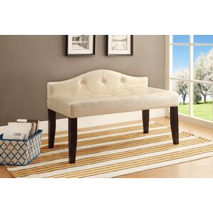 Corydon Upholstered Bench by Three Posts