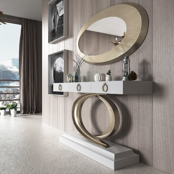Review Harwinton Console Table And Mirror Set