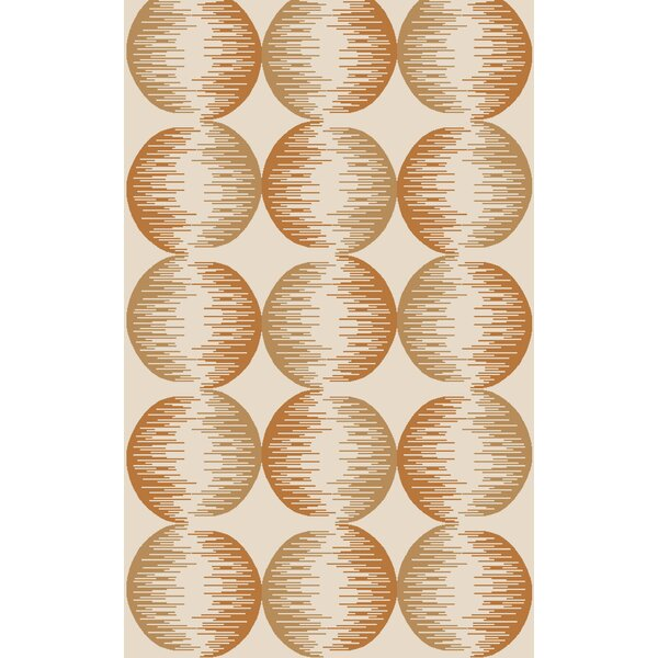 Demosthenes Hand-Tufted Tan/Rust Area Rug by Mercury Row