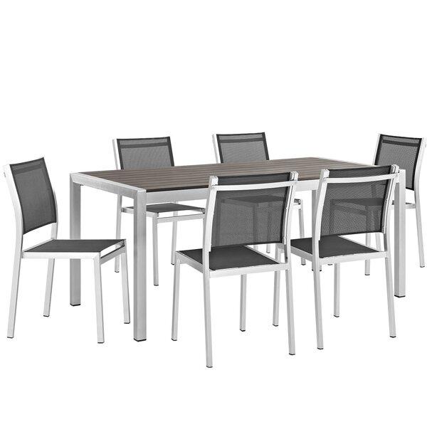 Coline Outdoor Patio Aluminum 7 Piece Dining Set by Orren Ellis