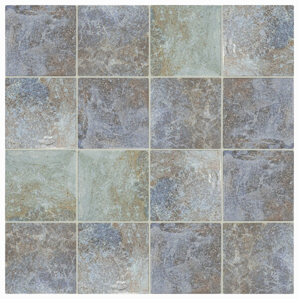 Luis 6 x 6 Porcelain Field Tile in Azul Sea by EliteTile