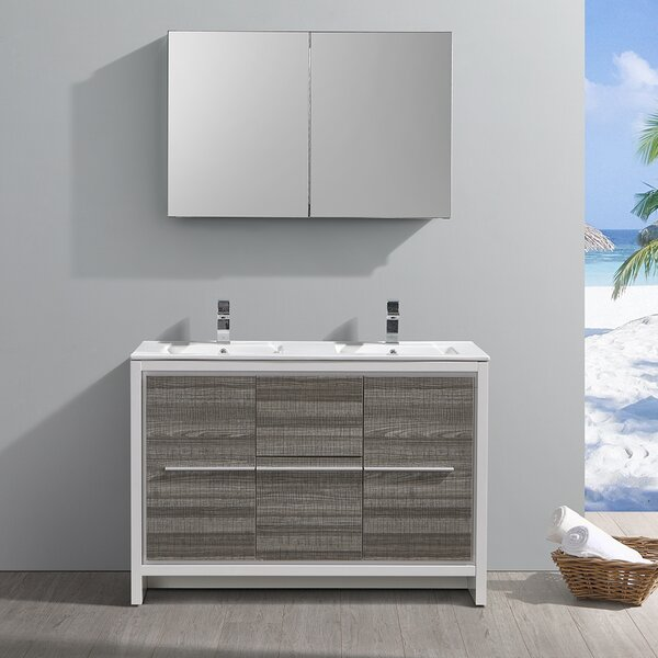 Trieste Allier Rio 47 Double Bathroom Vanity Set with Mirror by Fresca