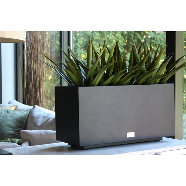 Metallic Series Long Galvanized Steel Planter Box by Veradek