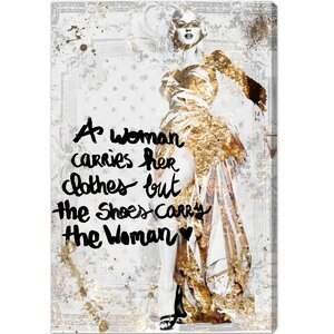 The Shoe Carries The Woman Graphic Art on Canvas by Oliver Gal