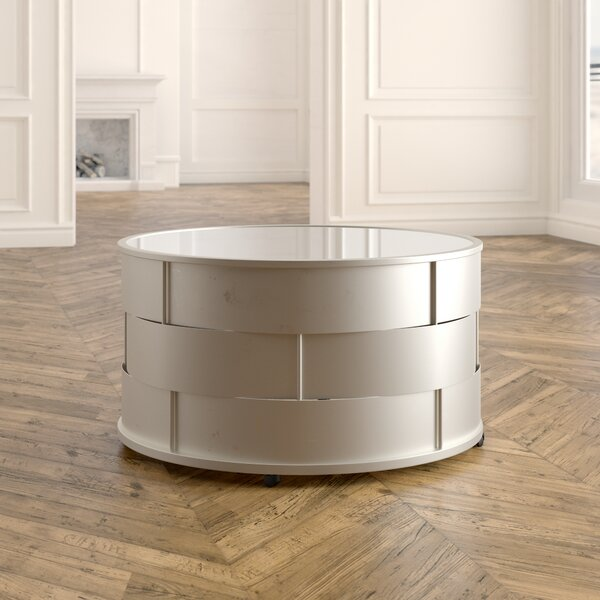 Deals Cliburn Drum Coffee Table
