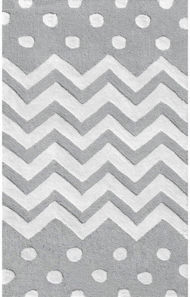 Gray/White Area Rug by The Conestoga Trading Co.