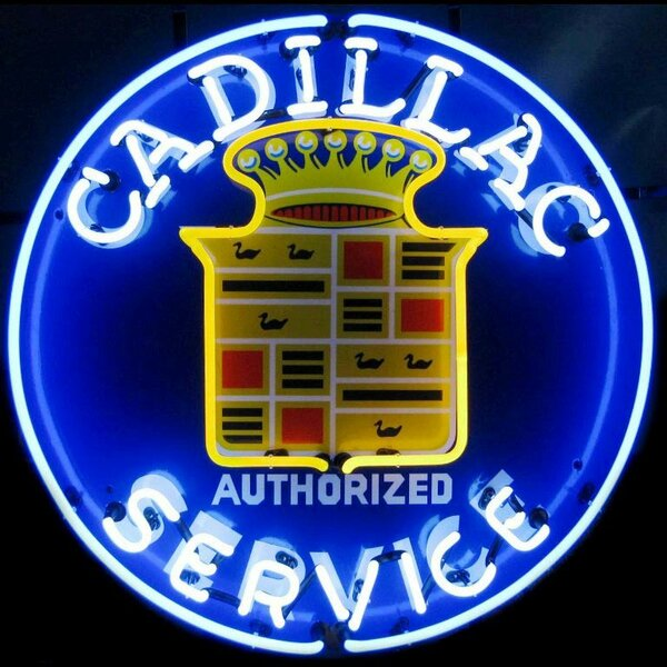 Cadillac Service Neon Sign by Neonetics
