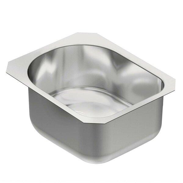 1800 Series 18.5 L x 15 W Single Bowl Kitchen Sink by Moen