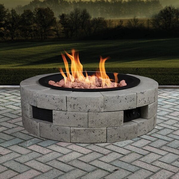 Stone Natural Gas Fire Pit by Bond Manufacturing