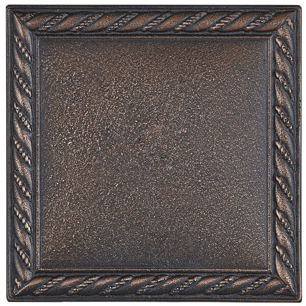 Tilden 4 x 4 Metal Rope Decorative Accent Tile in Oil Rubbed Bronze by Itona Tile