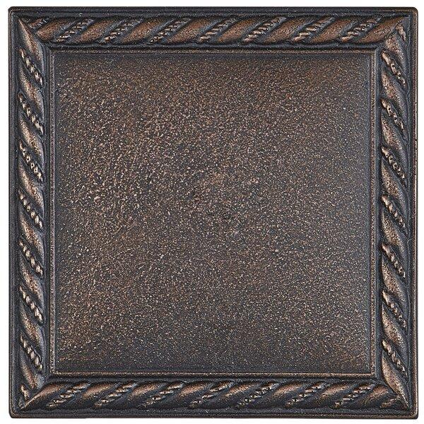 Tilden 4 x 4 Metal Rope Decorative Accent Tile in