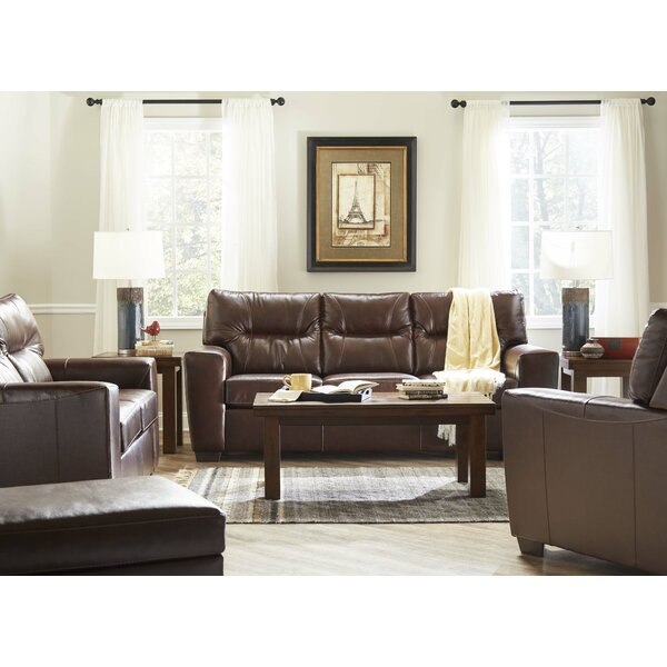 Price Comparisons Oleary Leather Sofa Bed by Williston Forge by Williston Forge