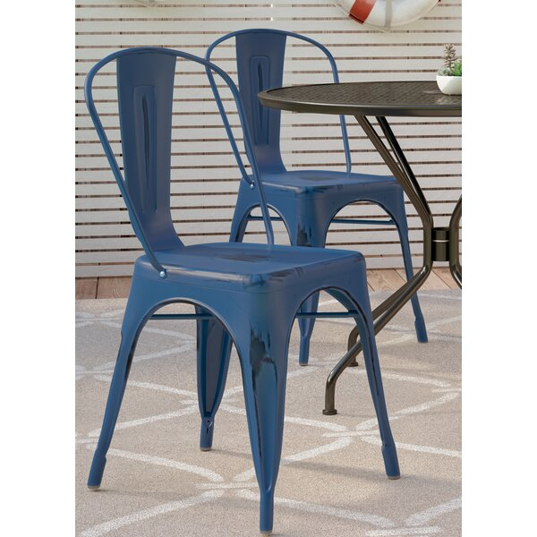 Dickens Stacking Patio Dining Chair (Set of 4) by Breakwater Bay