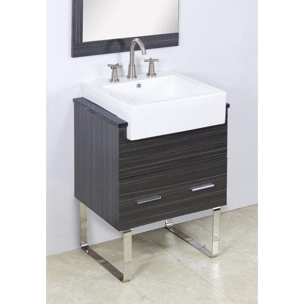 Mulberry Wall Mount 24 Single Bathroom Plywood Vanity Set by Royal Purple Bath Kitchen