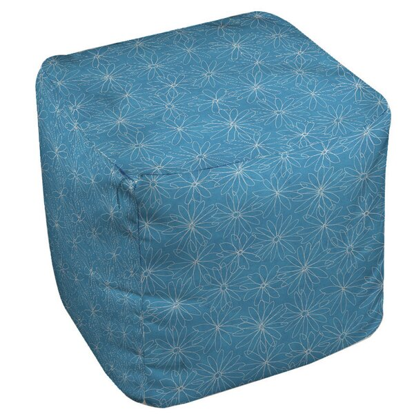 Funky Daisy Sketch Pouf by Manual Woodworkers & Weavers