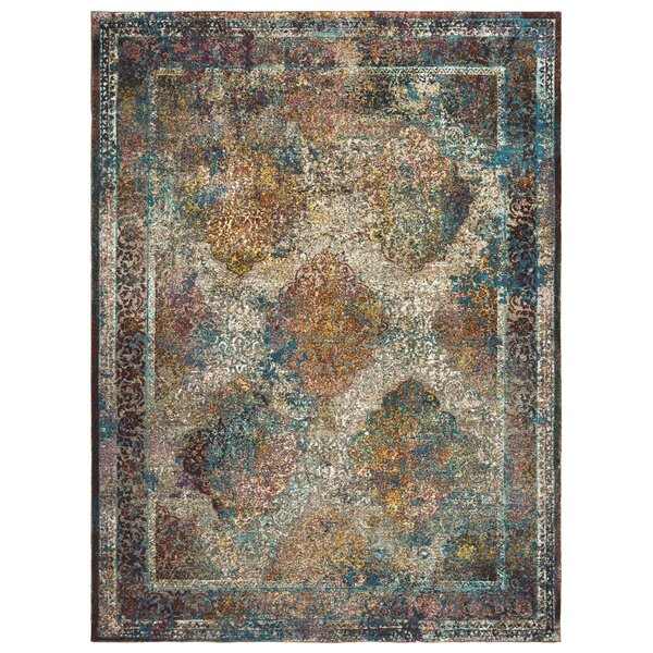 United Weavers Bohemian St. Croix  Cotton Blue/Yellow Area Rug by Panama Jack Home