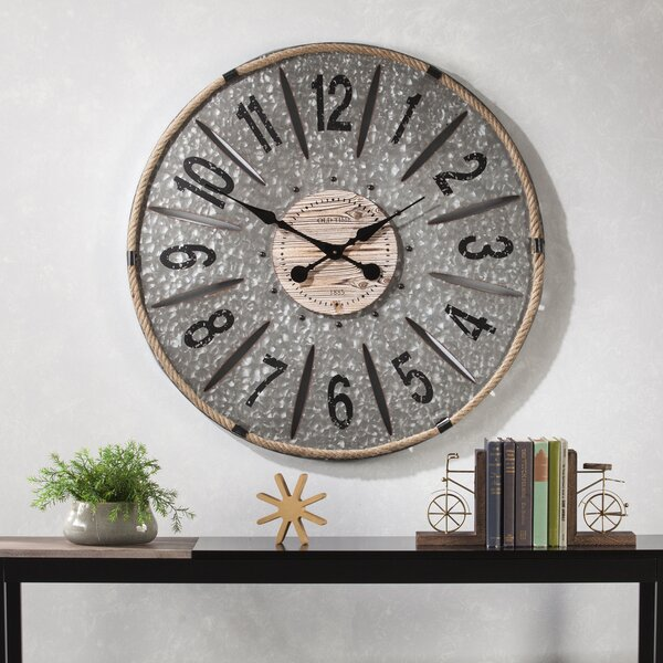 Oversized 36 Metal Wall Clock by Gracie Oaks
