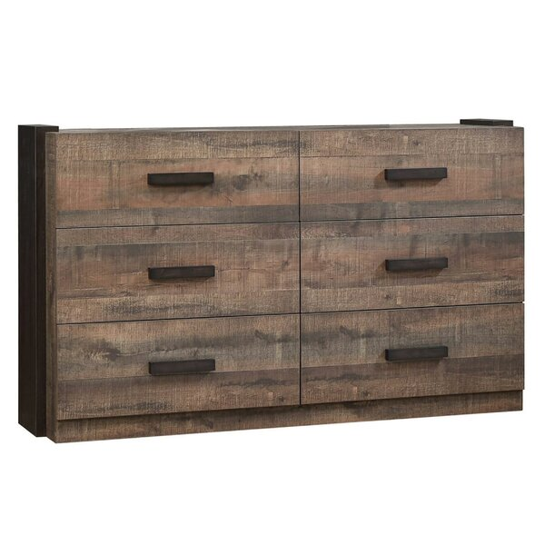 Brighouse Wooden 6 Drawer Double Dresser by Foundry Select