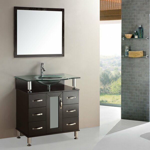 36 Single Bathroom Vanity Set with Mirror by Kokols