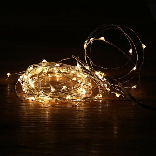 Battery 50 LED String Lights by The Holiday Aisle