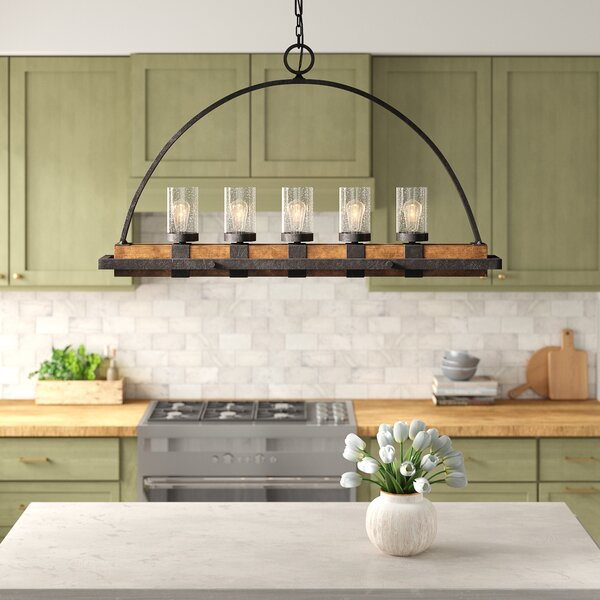 Stoltzfus Linear 5-Light Rectangle Chandelier with Glass Accents by Gracie Oaks Gracie Oaks