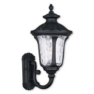 Gurnee Clear Water Glass 1-Light Outdoor Sconce By Three Posts Outdoor Lighting