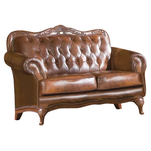 Upsala Leather Loveseat by Astoria Grand