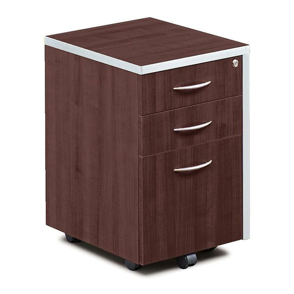 Compass 3 Drawer Mobile Vertical Filing Cabinet
