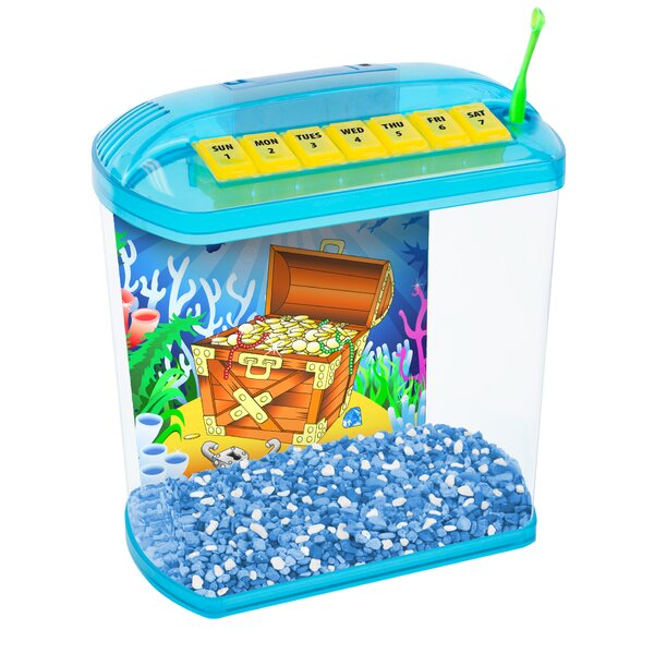 1.13 Gallon Rite-Bite Educational Aquarium Tank by Penn Plax