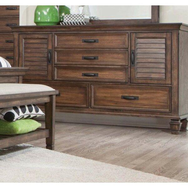 Indurial Wooden 5 Drawer Dresser By Loon Peak by Loon Peak Modern